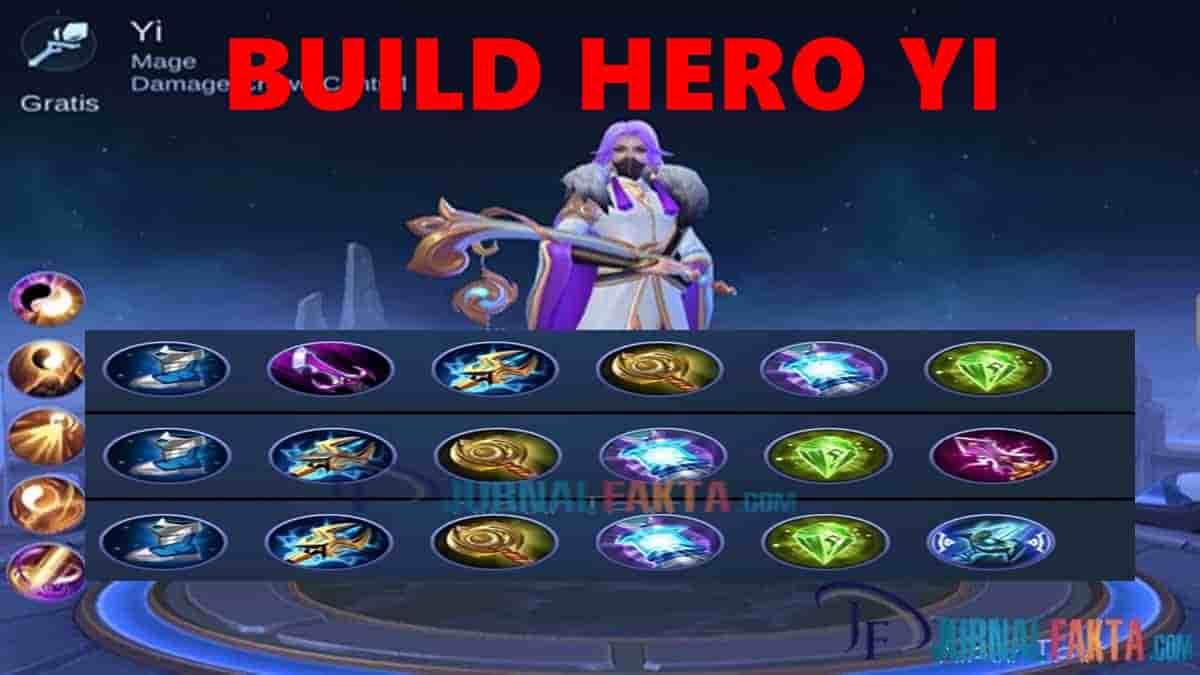 Build Hero Yi Terbaik Terkuat Dan Tersakit Di Mobile