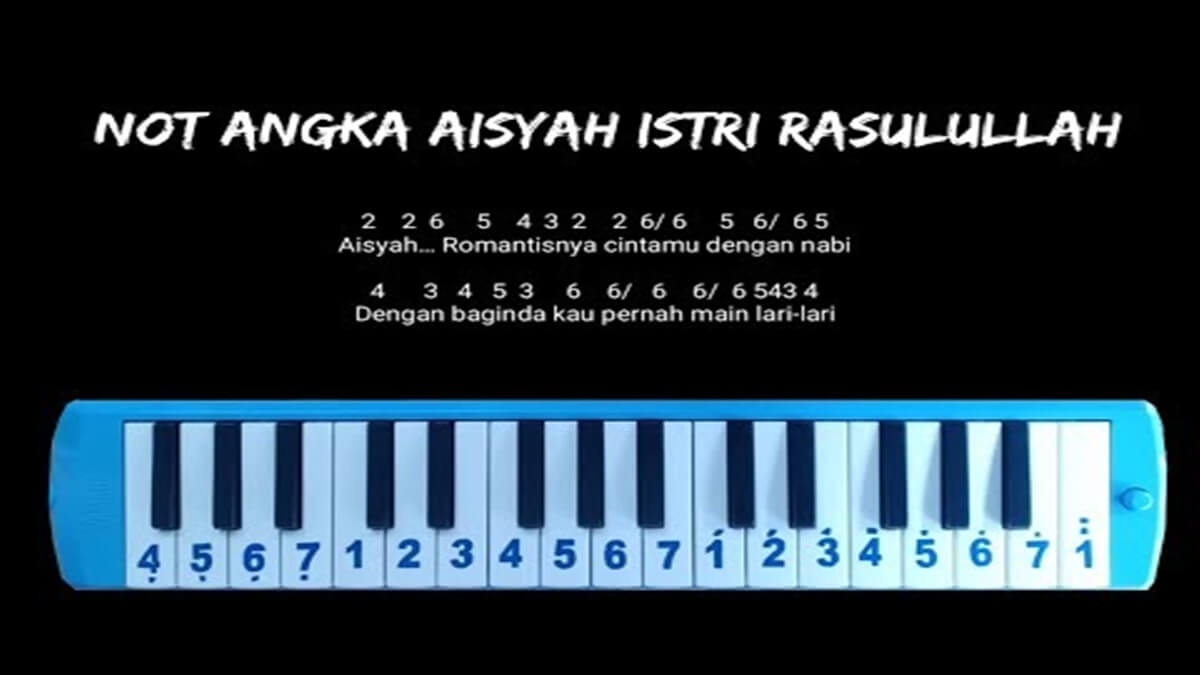 Not Angka Aisyah Istri Rasulullah Lirik Lagu Nya Jurnalfakta Com